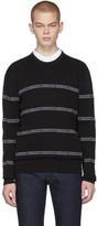 Versace Black Nastro Slim-Fit Sweater