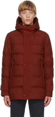 Herno Red Down Seamong Hooded Parka