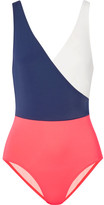 Solid and Striped - The Ballerina Color-block Swimsuit - Navy