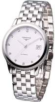 Longines Watches Flagship with Diamond Hour Markers Automatic Men's Watch
