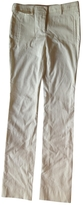 Miu Miu White Cotton Trousers