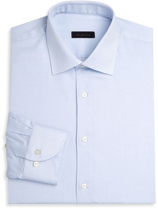 Saks Fifth Avenue COLLECTION Travel Stretch Cross Check Dress Shirt