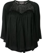 Paul & Joe lace detail flared blouse