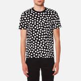 Ami Men's Dots Print Crew Neck TShirt - Black/White