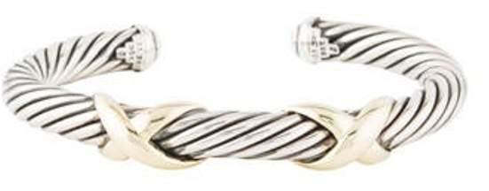 David Yurman Double X Cable Bracelet silver Double X Cable Bracelet