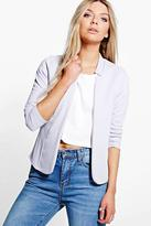 Boohoo Sophia Ponte Notch Neck Blazer