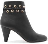 Sonia Rykiel Eyelet-Embellished Leather Boots