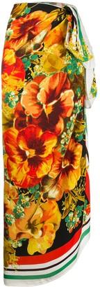 Marlies Dekkers Floral-Print Logo Scarf