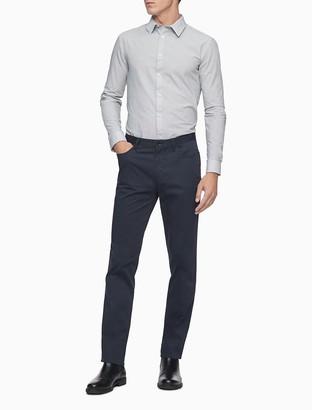 Calvin Klein Extra Slim Fit Dotted Check Temperature Regulation Dress Shirt