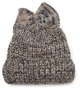Federica Moretti Bow-embellished ribbed-knit beanie hat