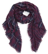 Fits Women's David & Young Plaid Oblong Scarf
