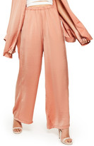 Missguided Wide Leg Satin Pants