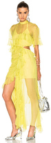Preen by Thornton Bregazzi Azura Dress in Yellow.
