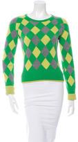 Alice + Olivia Patterned Cashmere Sweater