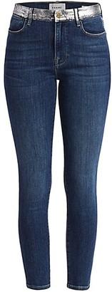 Frame Le High Skinny Foil Pocket Jeans
