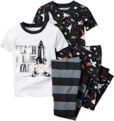 Carter's Black Space 4-pc. Pajama Set - Toddler Boys 2t-5t