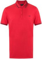 Armani Jeans Cotton/Spandex/Elastane Polo Shirts, Red