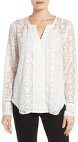 NYDJ Embroidered Georgette Blouse
