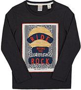 """Scotch Shrunk Ride Before You Rock"""" Cotton Long-Sleeve T-Shirt-GREY"""