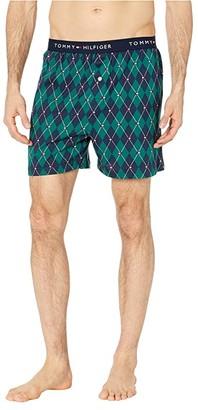 Tommy Hilfiger Fashion Knit Boxer (Spruce) Men's Underwear