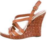 Michael Kors Leather Wedge Sandals