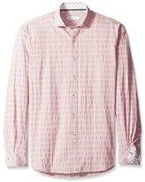 James Campbell Men's Tribeca Plaid Long Sleeve Shirt