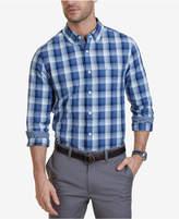 Nautica Men's Slim-Fit Mist Plaid Long-Sleeve Shirt