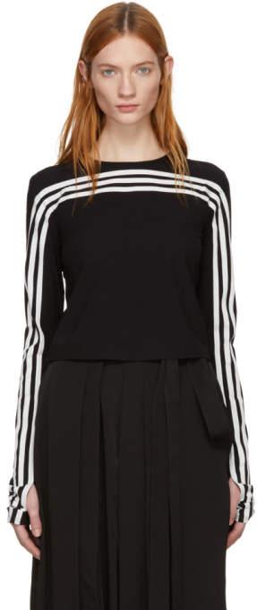 Y-3 Black Long Sleeve 3-Stripe T-Shirt
