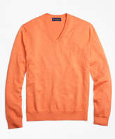 Brooks Brothers Supima® Cotton V-Neck Sweater