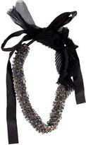 Vera Wang Ribbon and Crystal Necklace