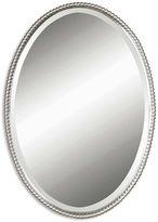 One Kings Lane Oval Mirror, Nickel