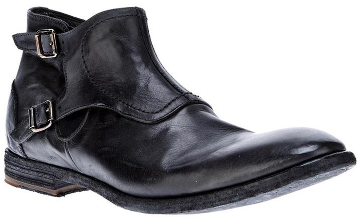 Alexander McQueen buckled boot