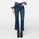 Paul Smith Women's Japanese Mid-Wash Denim Kick-Flare Jeans