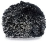 Saks Fifth Avenue Dyed Fox Fur Cap