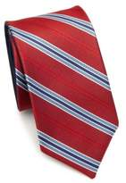 Saks Fifth Avenue COLLECTION Double Face Stripe Silk Tie