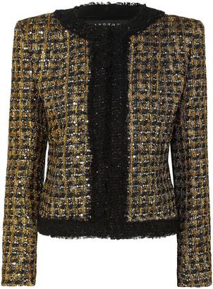 Balmain Embellished Metallic Tweed Jacket