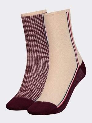 Tommy Hilfiger 2-Pack Women's Metallic Houndstooth Socks