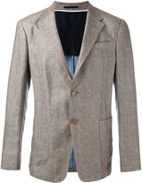 Z Zegna two-button jacket - men - Linen/Flax/Cupro - 52