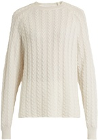 RYAN ROCHE Crew-neck cable-knit cashmere sweater