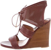 Derek Lam Perforated Leather Wedges