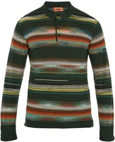 Missoni Striped wool-blend polo shirt