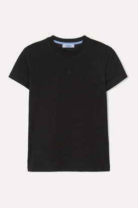 Thierry Mugler Printed Cotton-jersey T-shirt - Black