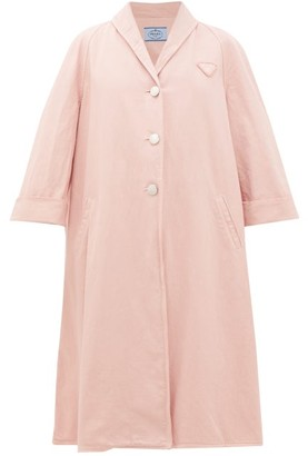 Prada Oversized Denim Coat - Light Pink