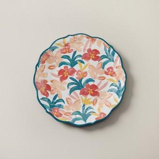 Indigo Painterly Tropical Melamine Dinner Plate