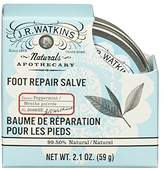JR Watkins Natural Foot Repair Salve, Peppermint, 2.1 Ounce