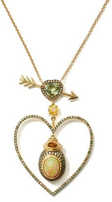 Daniela Villegas Beaming Love Diamond, Opal, 18kt Gold Necklace - Yellow Gold