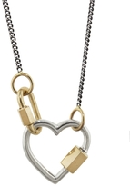 Marla Aaron Baby Lock & Heart Lock Charm Necklace