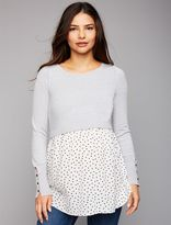 A Pea in the Pod Babydoll Maternity Sweater