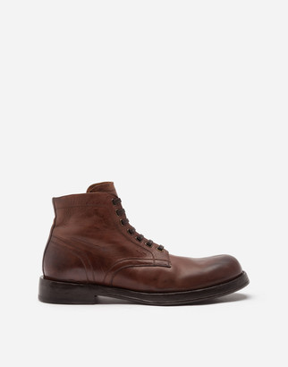 Dolce & Gabbana Horsehide Ankle Boots