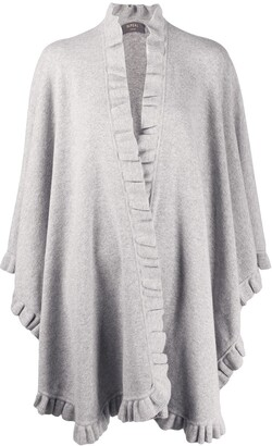 N.Peal Frill-Trimmed Cashmere Cape
